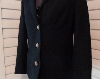 1950s Black suit jacket or blazer by Paula Hyman for Rosenblum