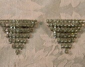 Vintage Pair of Cascading Rhinestone Shoe Clips