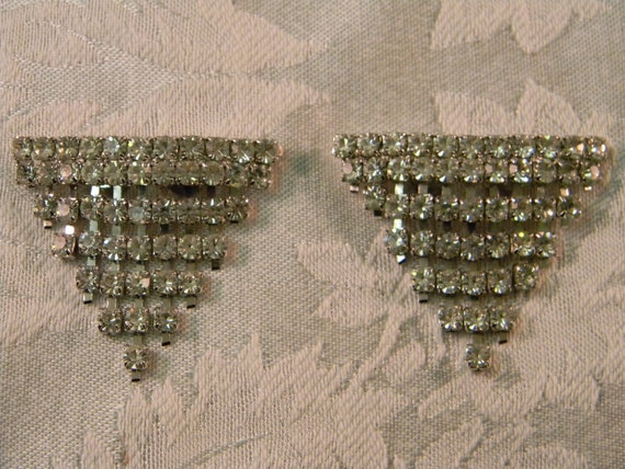 Vintage Pair of Cascading Rhinestone Shoe Clips