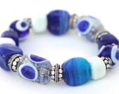 Oscar Bracelet - Handmade Glass Evil Eye Beads Celebrity Bracelet