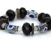 Istanbul - MIDNIGHT Bracelet Handmade Evil Eye Glass Beads