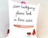 Gorgeous Fairy Toadstool Tooth Fairy Pillow with Secret Pocket xx P&P Incl.