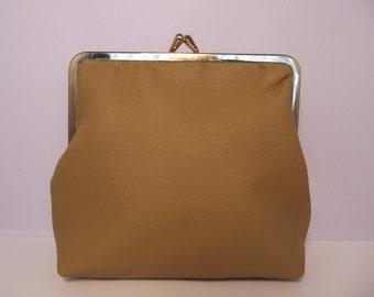 Leather Clutch Bag, Make up Case, purse,little bag