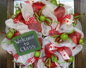 Deco Mesh TEACHER APPRECIATION WREATH