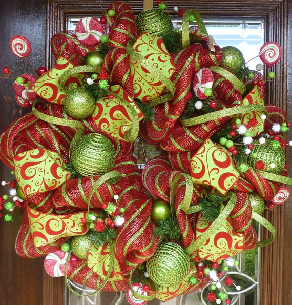 DELUXE WHIMSICAL CHRISTMAS Wreath 24""