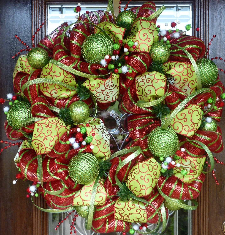 Whimsical christmas wreath 30 for Deco christmas decorations