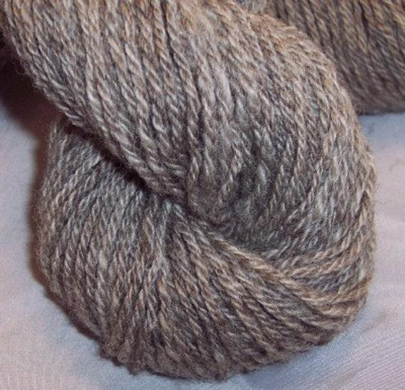 Yarn.5 skeins handspun Coopworth wool. 552 total yards. Gray heather.
