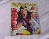 Rolling Stone Magazine Issue No 445 April 11th, 1985 David Lee Roth
