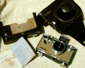 HUGE DISCOUNT: vintage Argus 35mm camera with leather case and antique Argus LC3 light meter 50mm lens