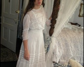 Edwardian Lace and Pintucked Batiste Lingerie Dress