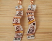 Tribal Scroll Design earrings 20% OFF