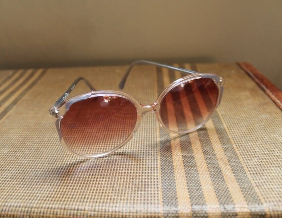 Vintage 1980s Large Frame Emilio Pucci Sunglasses with blue accents