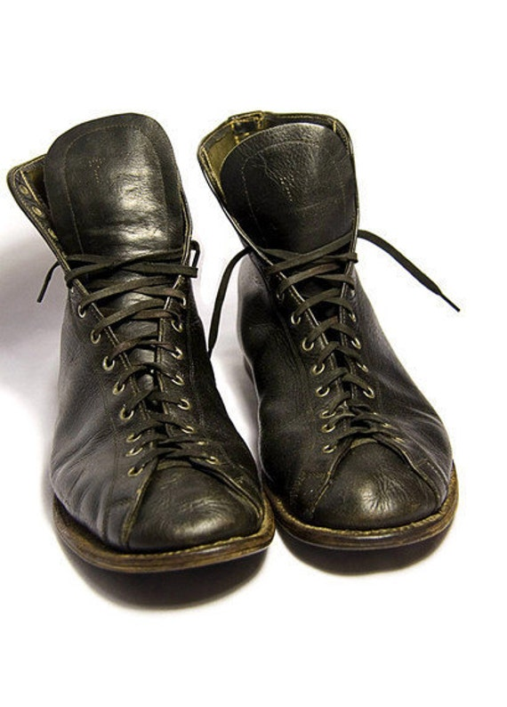 Black Leather Boxing Shoes