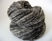 Handspun single Natural Mix of wools and alpaca Granite 268 yards