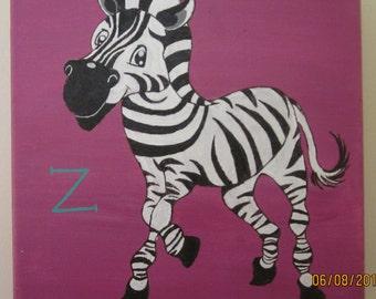 Z is for Zebra.