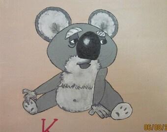 K is for Koala.