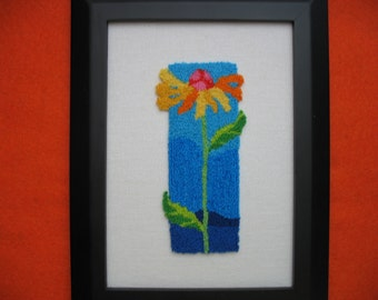 Grow Up Flower Punchneedle Embroidery Picture