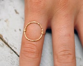 Open Circle ring. 14kt gold filled