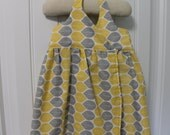 Yellow and Gray Toddler Wrap Dress