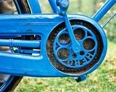 Vintage Blue Hero India Bike - Fine Art Photo