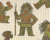 Vintage 1970s Wallpaper-Kitsch Indians- by the yard