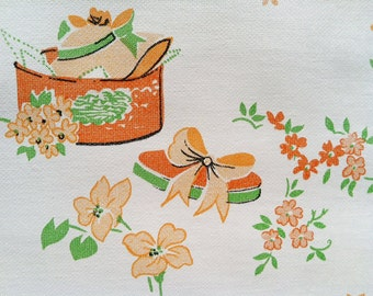 Vintage 1960s Wallpaper- Ladies Accessories-Hats, Handbags, Fans- by the Yard