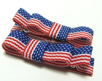 Baby Hair Clip- 4th of July American Flag - Alligator Clip - Baby, Toddler, Girl, Children
