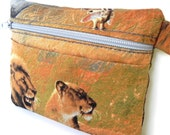 Zipper Pouch Coin Purse - African Safari - Loins