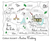 Custom Map - Cute Wedding Map, Party Map or We're Moving Map