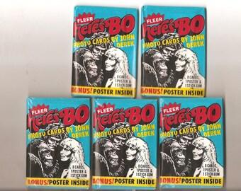 Five Fleer-Here's Bo 1981 unopened packages of gum cards....
