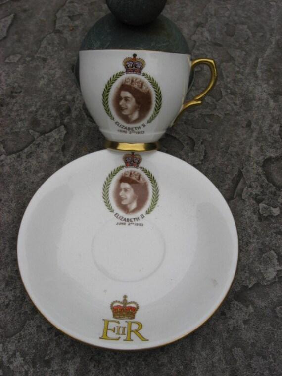Elizabeth ll Coronation cup & saucer