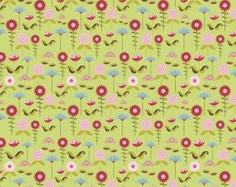 Love Birds by Deena Rutter for Riley Blake, Garden Green, SKU C7093, 1 yd