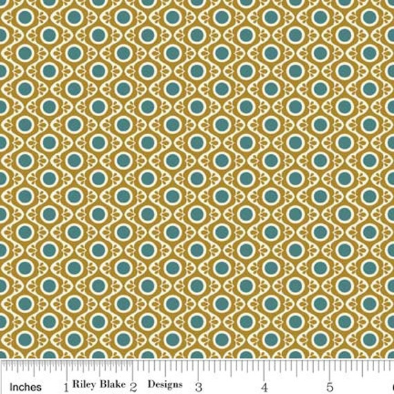 "Riley Blake Designs ""So Sophie"" by Deena Rutter and Jen Allison for My Mind's Eye, Tapestry Gold, SKU C2702, 1 yd"