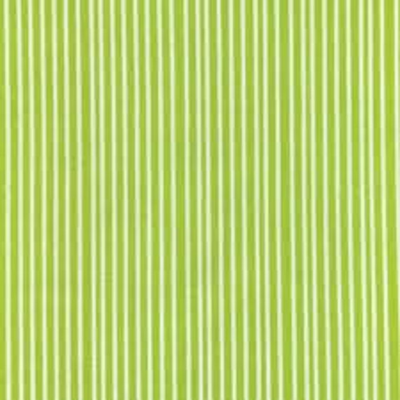 Red Letter Day by Lizzy House Green Stripe-1 Yard