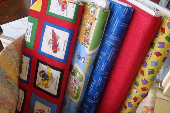 Busytown Fabric by Richard Scary from VIP Exclusive Fabrics