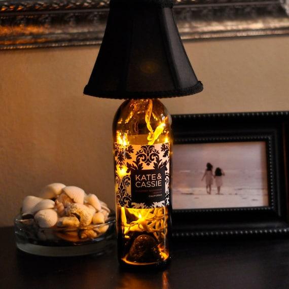 Wine Bottle Lamp - Kate & Cassie Cabernet - Merlot