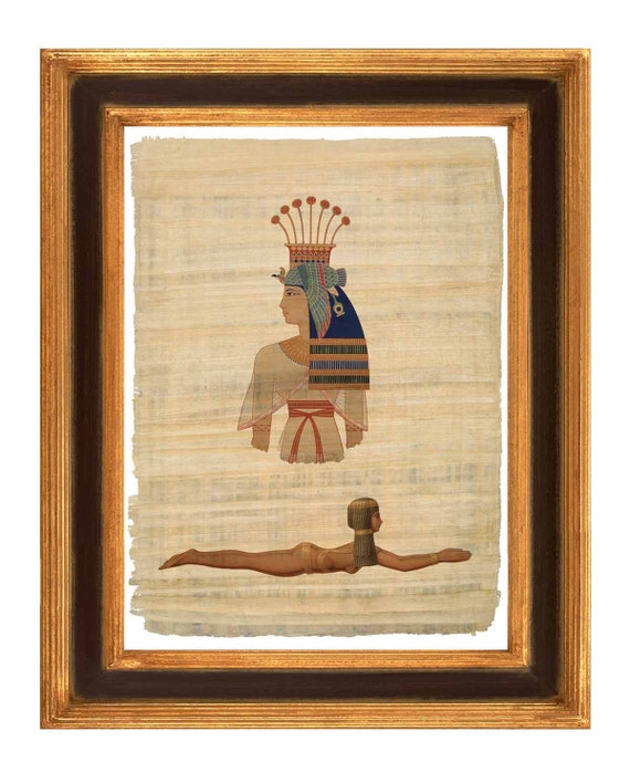 Items Similar To Egyptian Art On Papyrus Reproduction