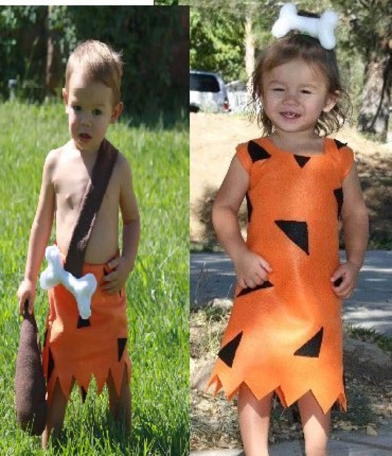 bam bam costume and pebbles twins 2 costumes  Flintstone costumes  siblings boy girl