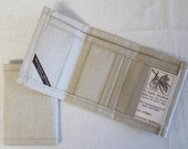 Cotton Linen Trifold Wallet - Choose 1.  Free shipping within USA.
