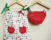 Baby Girl Dress- LADYBIRD garden print summer set