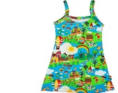 Summer girls beach dress Znok print free shipping