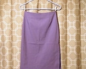 Misty // Vintage Lilac Pencil Skirt by Happening (size small)