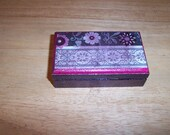 Rose and Black Floral Trinket Box with a Grab Bag Surprise Hidden Inside