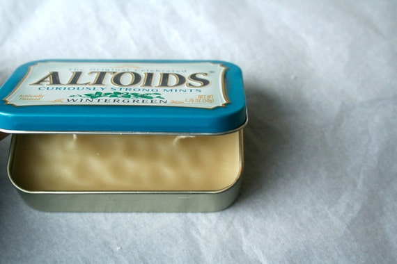 Travel-Sized Altoids Tin Candle with 2 wicks