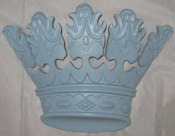 Blue princess or prince crown home decor after purchase will for Crown decorations home