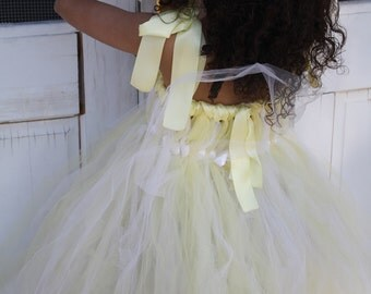 baby maze and white empire style  tutu dress  Great for weddings , flower girls,birthday and Easter dress