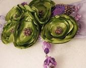 Romantic Lavender Beaded Cuff