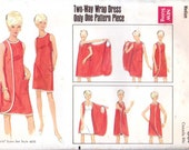 Retro Wrap Beach Dress Cover Up  Size Medium Bust 34 - 36 Butterick 4699 UNCUT FACTORY FOLDED