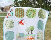 """PDF Quilt Pattern//Boy Quilt Cars Helicopter Truck//""""On the Go"""""""