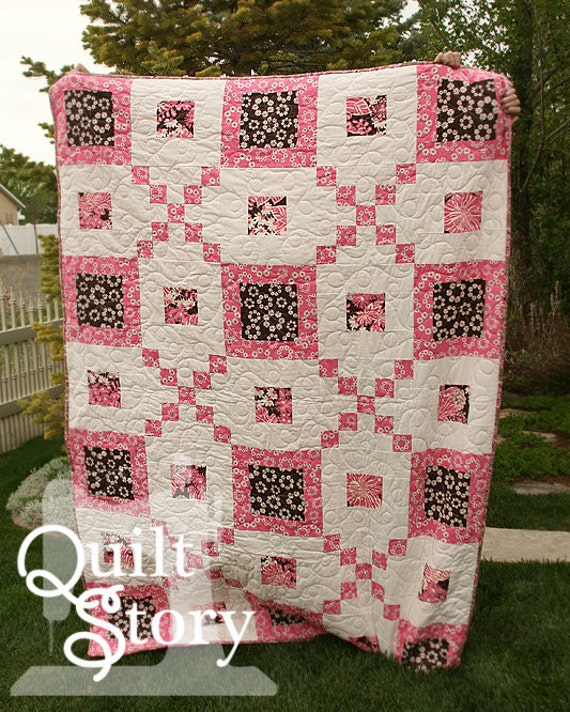 PDF Quilt Pattern / Modern/ Easy / Kenna's Blooms